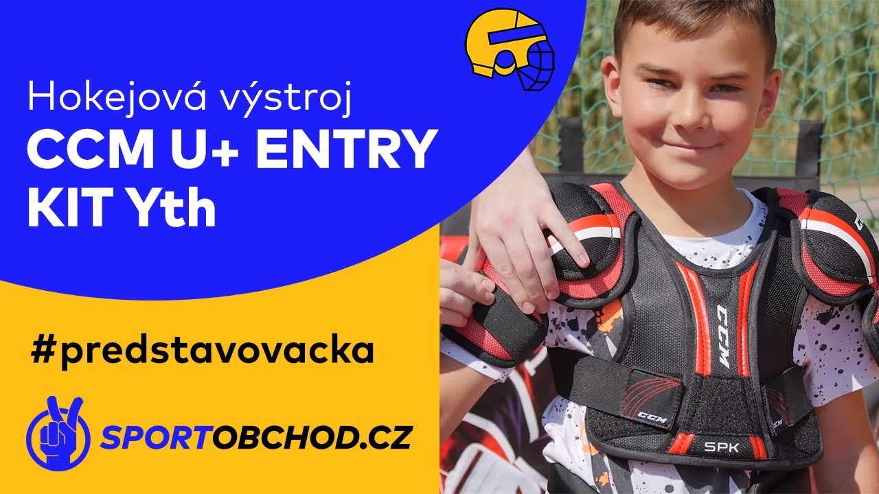 4e5a8fb4ba8 Dětský set hokejových chráničů CCM U+ Entry Kit Yth  predstavovacka ...