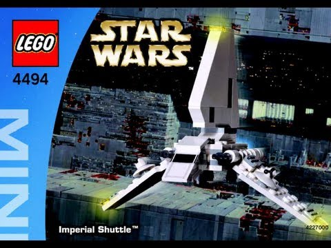 How To Build Lego Mini Imperial Shuttle Tm 4494 Instructions Youtube