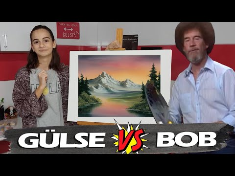 BOB ROSS İLE RESİM EĞİTİMİ | Following A Bob Ross Painting Tutorial