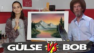 BOB ROSS İLE RESİM EĞİTİMİ | Following A Bob Ross Painting Tutorial