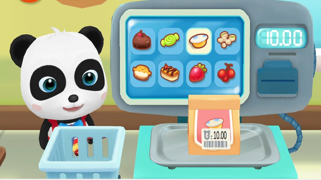 Little Panda Shopping For Costume Party - Help Little Panda For Shopping List - Babybus Game Videos