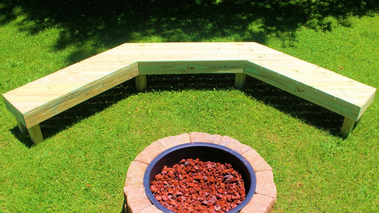 How To Build A Fire Pit Bench Simple Diy Youtube