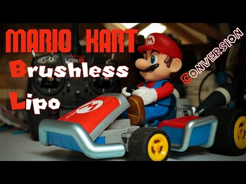 MARIO KART RC - conversion BRUSHLESS - LIPO projet de A à Z... upgrade