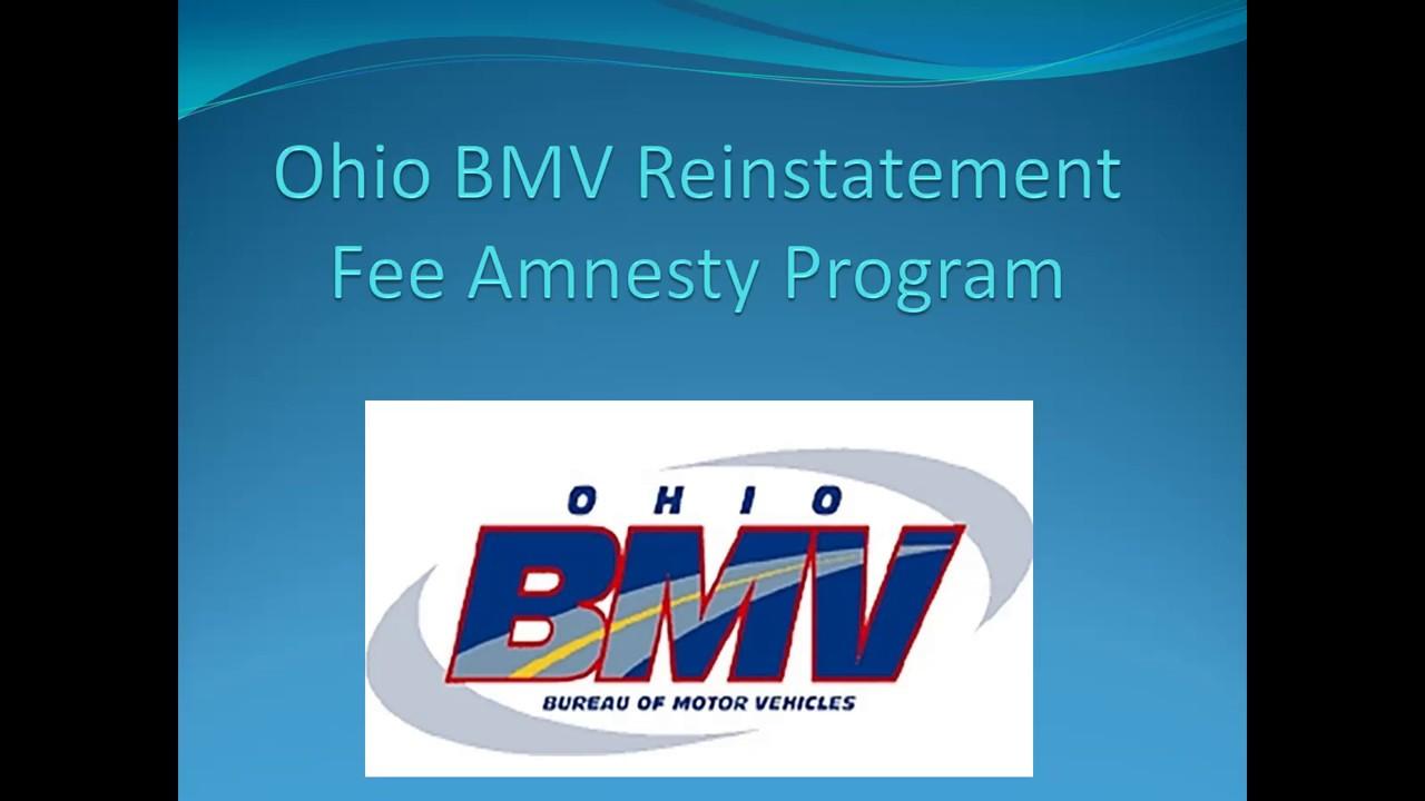Ohio BMV Reinstatement Fee Amnesty Initiative - Lyles Insurance