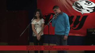 Gambar cover Yazan & Nadine From auditions for the Play 99.6 All Schools Talent Show