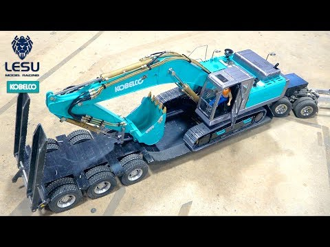 "FIRST DRIVE & REVIEW : ""KOBELCO EURO"" EXCAVATOR (Track Hoe) LESU PC360 Build PT 6 