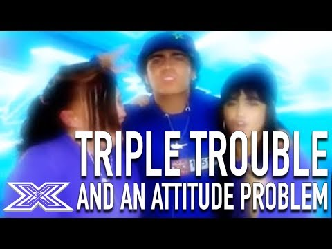Triple Trouble's Attitude Leaves Judges Stunned! | X Factor Global