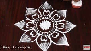 Beautifull freehand muggulu design without dots * simple & easy kolams * mango rangoli design