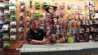 Customized Compound Bow By Draves Archery: Red & Black Mathews Monster Safari