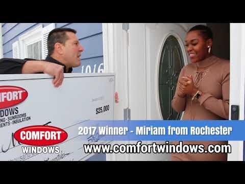Comfort Windows  2017 25K Winner  Miriam Johnson  Disclaimer