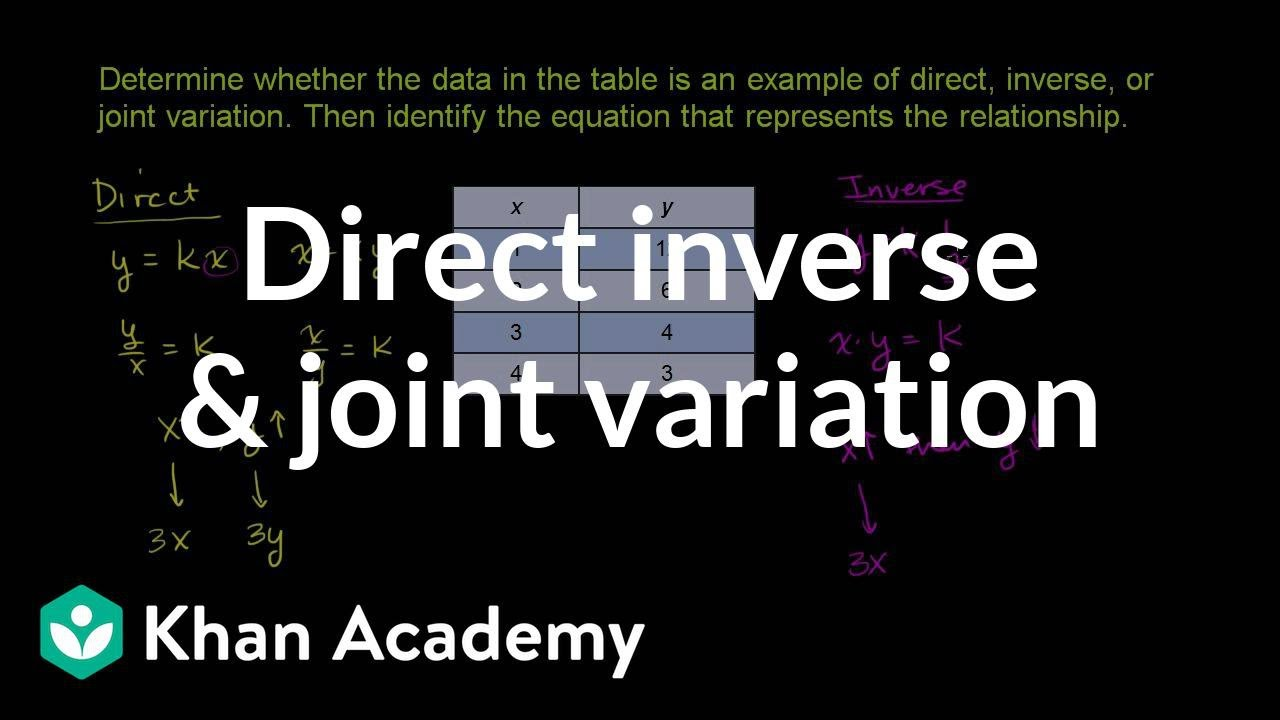 Recognizing direct \u0026 inverse variation: table (video)   Khan Academy [ 720 x 1280 Pixel ]