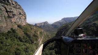 Helicopter Flight over Blyderiver Canyon (South Africa)