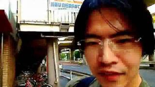 代々木警察署を盗撮して警察を挑発するカルトニコ生員