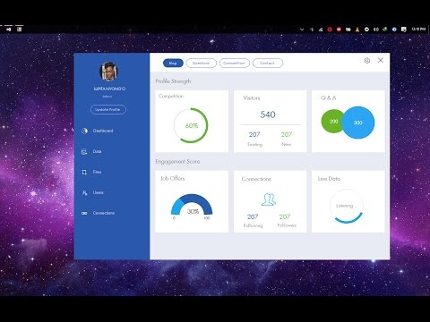 C#, VB.net, VC++.net - Cool Blue Modern Dashboard - Bunifu U