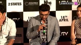 Alia Bhatt & Arjun Kapoor launch '2 States' trailer
