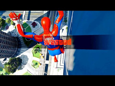 GTA 5 Epic Wasted Compilation SPIDERMAN Flooded Los Santos ep.105 (GTA V Fails, Funny Moments)