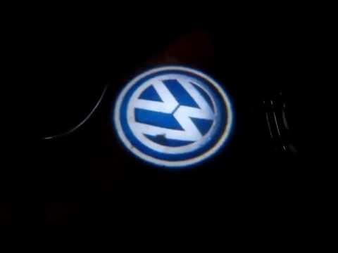 Für VW Skoda Vorne Türwarnleuchte LED Einstiegsleuchte Umfeldbeleuchtung Leuchte