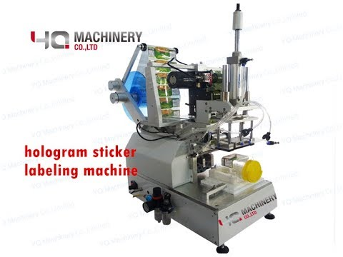 Hologram Sticker Labeling Machine For Box Corner Label Applicator