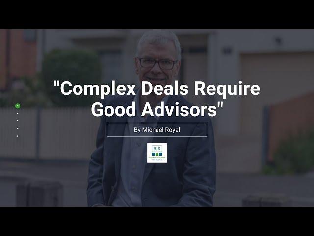 Complex Deals Require Good Advisors | BIR Solutions