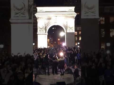 Madonna Washington Square Park: Closeup Arrival/Departure, Full Concert