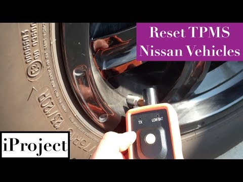 Resetting TPMS for Nissan vehicles with universal tool