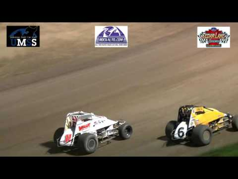 7-30-2016 UMSS Non Wing Sprints Cedar Lake Speedway