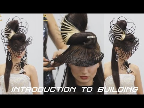 Конкурсная прическа. The competition hairstyle for long hair