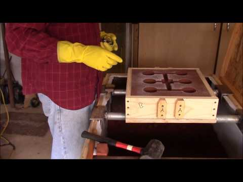Pouring the Knob Match Plate