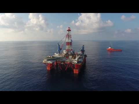 Semi - Submersible Drilling Rig Vietnam - BOSIET Drone Cameraman/Aerial Photographer Peter Scheid