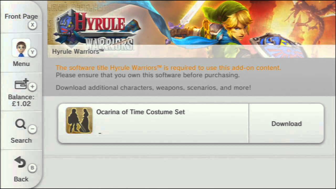 Hyrule Warriors Dlc Costumes How To Download Them Youtube