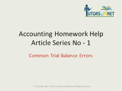 Accounting homework