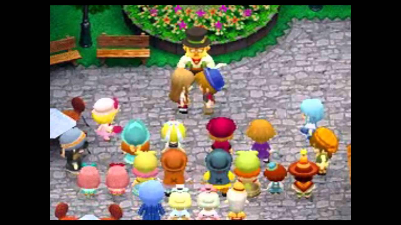 Harvest Moon DS Grand Bazaar - get married to Freya - YouTube