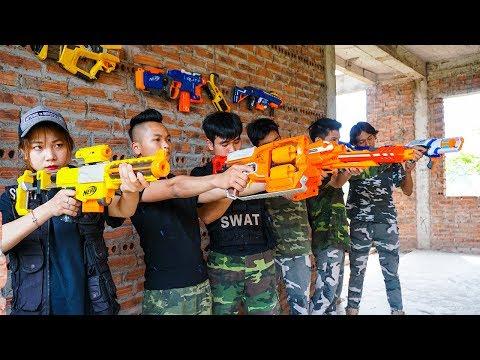 Hihahe Nerf War: SWAT & Police Transformers Nerf Guns Martial Arts Nerf War