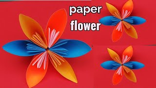 How to make a paper flowers design at home,paper flowers craft ideas Handmade  ,paper art and craft