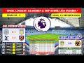 Hasil Lengkap Liga Inggris Tadi Malam ~ Leicester VS Aston Villa English Premier League 2020/2021