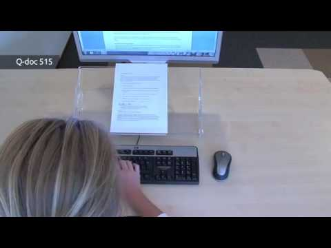 Ergonomische documenthouder - Q doc 415 + 515 - BakkerElkhuizen