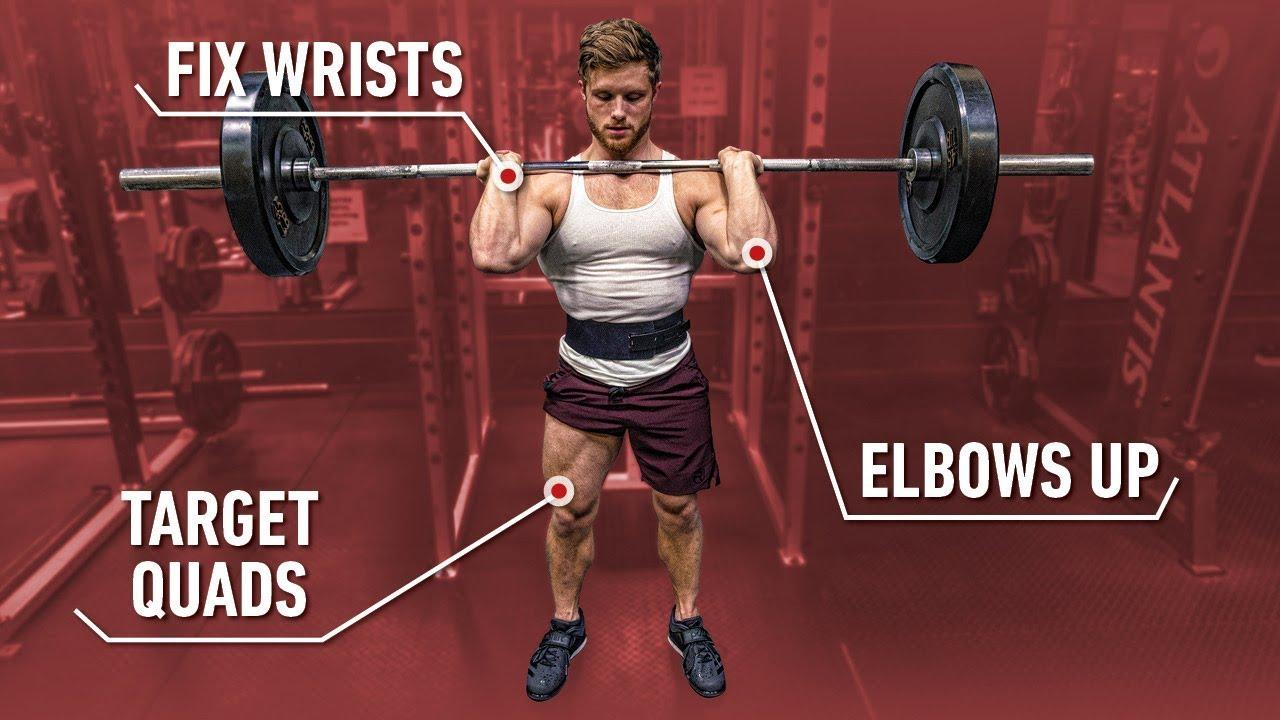 HOW TO FRONT SQUAT: Build Bigger Quads & A Stronger Squat