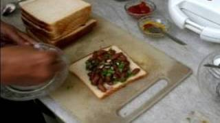 How To Make Indian Stuffed Sandwiches : How To Make A Bean Sandwich