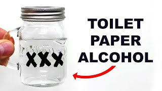 Making toilet paper moonshine