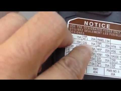 Toyota Sequoia 05 ,Fix Mirror motor running noise quick - YouTube