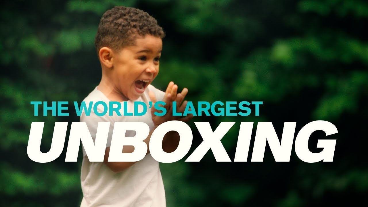 Volvo Trucks World S Largest Unboxing Starring 3 Year Old Joel