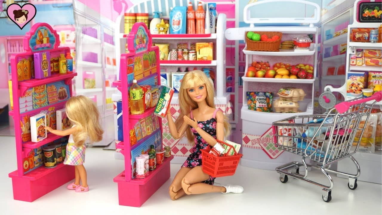 Barbie Doll Grocery Store Supermarket With Hello Kitty