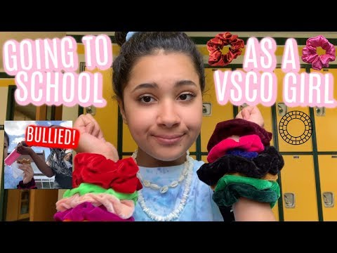 I WENT TO SCHOOL AS A VSCO GIRL FOR A DAY!! ( BULLIED )