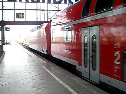 Saxonia Express nach Dresden Hbf. aus Leipzig Hbf. ausfahrend