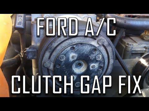 Ford How to: Fix Air Conditioning Clutch (Air Gap)