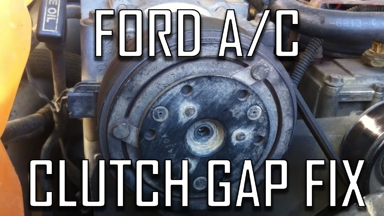 Fl Wiring Diagram 1993 Ford How To Fix Air Conditioning Clutch Air Gap Youtube
