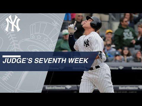 Aaron Judge's 7th week of the 2018 season