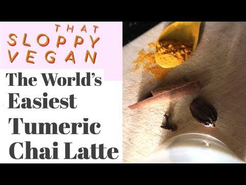 The World's Easiest Tumeric Chai Latte