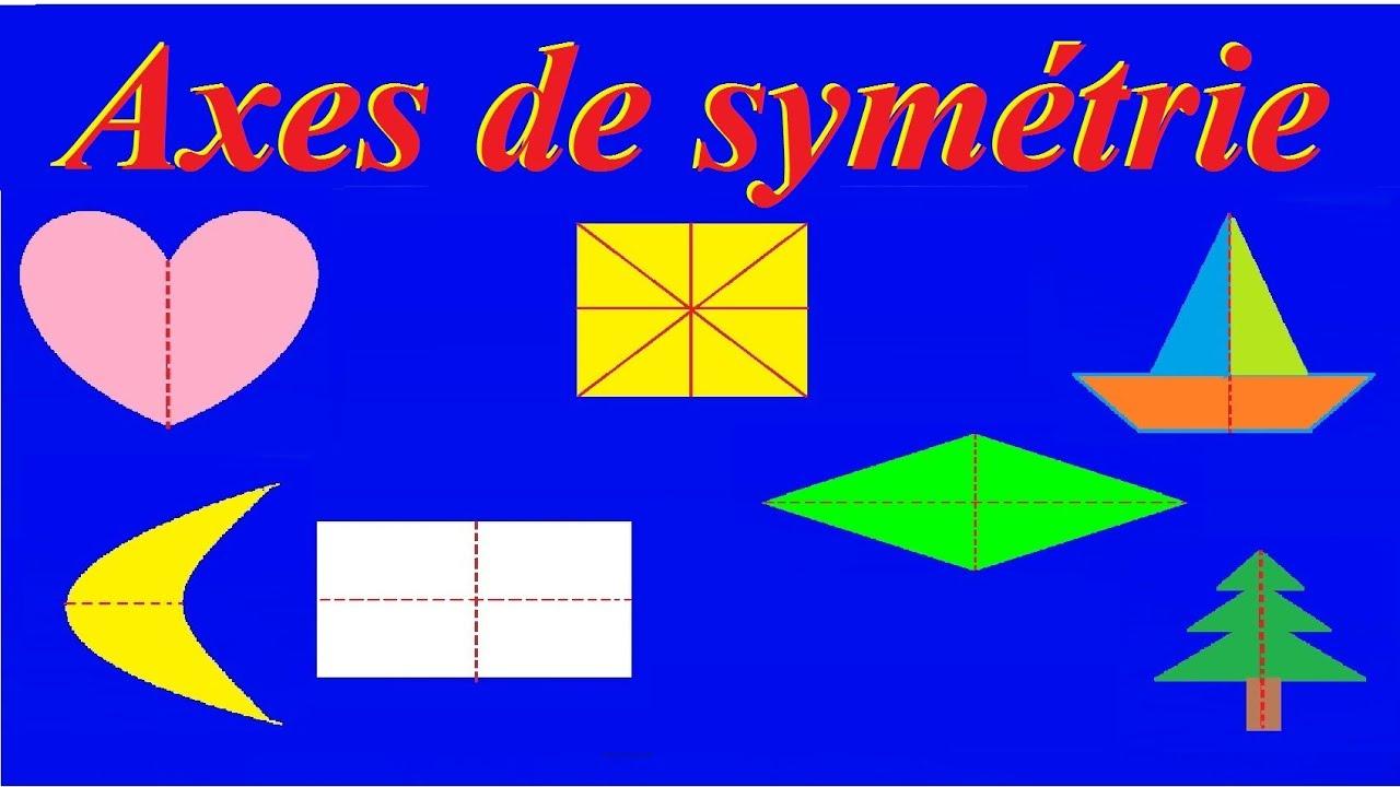 Axe de symétrie axiale et centrale : Bases Maths ce2 cm1 cm2 6ème 5ème - YouTube