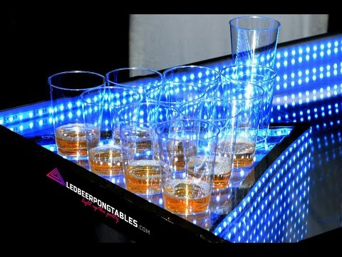Infinity glow led beer pong party table youtube